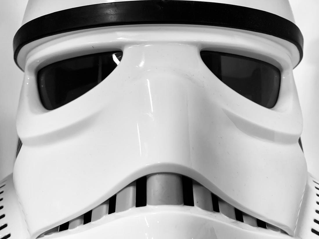 White stormtrooper helmet